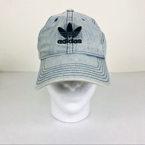 Adidas Men's Relaxed Denim Washed Baseball Cap